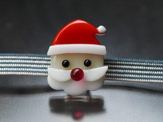 クリスマス サンタクロースの帯留めの画像