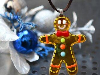 ジンジャークッキーのネックレス の画像