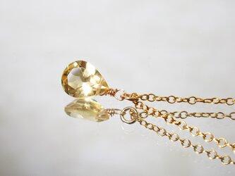 黄金の雫。シトリンのネックレス [送料無料]の画像