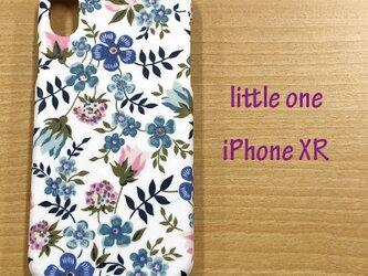【リバティ生地】 エディナムブルー  iPhoneXRの画像