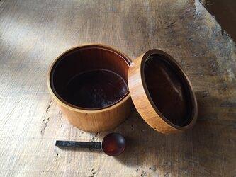 竹と漆の弁当箱 透漆の画像