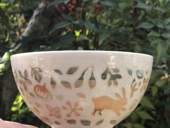 Kakiotoshi bowl - 二羽のうさぎの画像