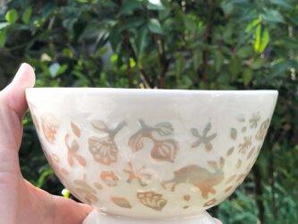 Large Kakiotoshi bowl - 二羽のうさぎの画像