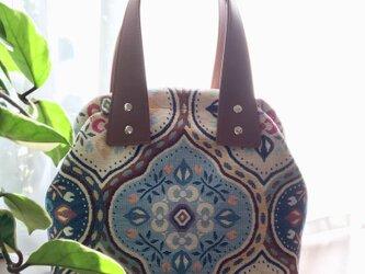 スペイン コブラン織り ・・ハンドバッグの画像