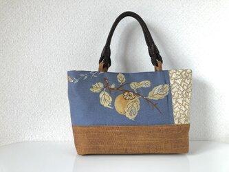 帯バッグ~柿〜の画像