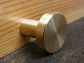 Φ20㎜ 真鍮無垢 アンティーク  Simpleツマミ /  引き出しや扉の取っ手、シャビーな家具などに。通販。の画像