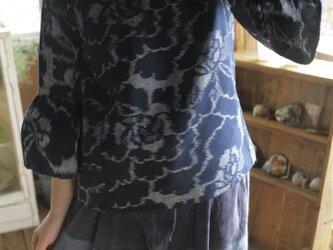 M様専用 確認画像  久留米絣の反物からふんわり袖トップスの画像