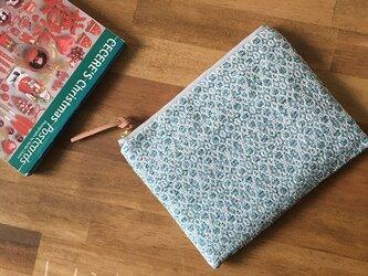 pouch[手織り小さめポーチ]エメラルドグリーンの画像