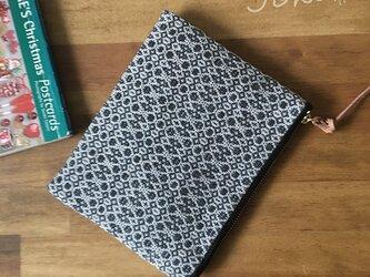 pouch[手織り小さめポーチ]ブラックの画像