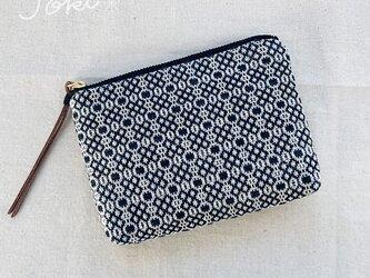 pouch[手織りミニポーチ]ブラックの画像
