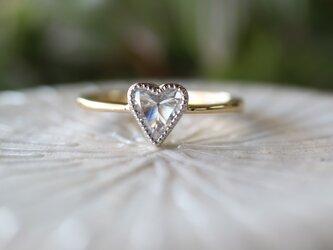 【O.R様お取り置き】ハートシェープダイヤモンド指輪の画像