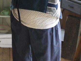 リメイク絣と綿のパンツの画像