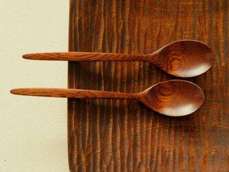 ナラの木のデザートスプーン (type-F)の画像