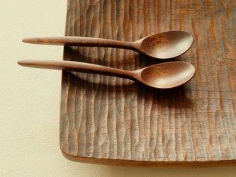 ナラの木のスモールスプーン (type-F)の画像