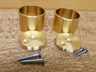 Φ32㎜用 真鍮無垢 アンティーク  パイプ固定 Fixedソケット / パイプや棒固定金具。ハンガー掛け等に。DIY 通販の画像
