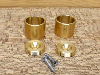 Φ16㎜用 真鍮無垢 アンティーク  パイプ固定 Fixedソケット / パイプや棒固定金具。ハンガー掛け等に。の画像