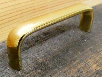 P-60㎜ 真鍮無垢 アンティーク Ellipse取っ手 鏡面磨き/ 引き出しや扉等に。ハンドル シャビー家具 DIY 通販の画像