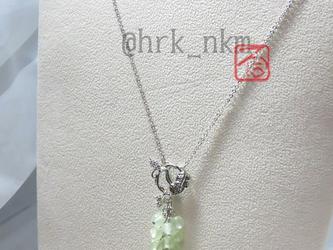 緑の葡萄ネックレス~chardonnayの画像