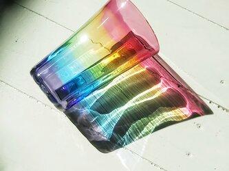 虹色のグラス✱ご注文前にメッセージをお願いいたしますの画像