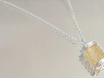 (Thank you,sold!)橘の光柱 インペリアルトパーズ原石 首飾りの画像