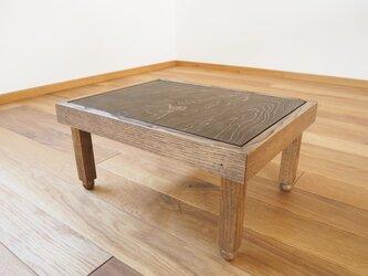 古材を使った豆ちゃぶ台の画像