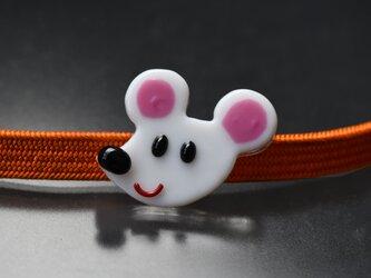 ネズミさんの帯留め 子年 お正月の画像