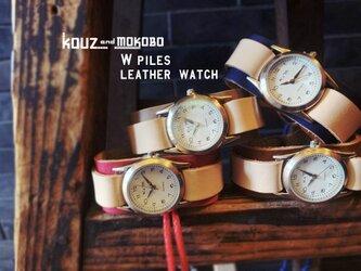 ▲WPILES 思い出を刻む自分色バングルウォッチカスタム「Wパイルズ 腕時計」金属アレルギー◎(WPW-CUSTOM)の画像