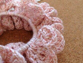 かぎ針編みのシュシュ~その6の画像