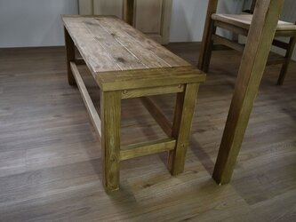 Old Pine Dining Bench Chairの画像