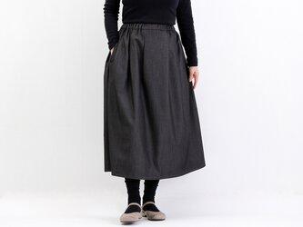 タックギャザースカート(デニムストレッチ)#285の画像