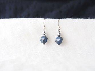 Blue&Silver Pierce(デュモルチェライト×ヘマタイト)の画像