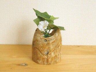 【温泉流木】いろいろ使えるミニ丸太の小さな花器ハイドロカルチャー容器 流木インテリアの画像