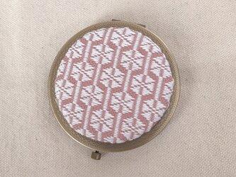 こぎん刺しの飾りコンパクトミラー〈竹の節〉AGの画像
