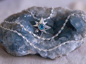 星に願いを☆☆☆ブルートパーズの星型ネックレスの画像