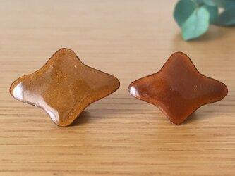 七宝ピンズ「ふたつのねがいごと」琥珀色【感謝を込めて特別価格】の画像