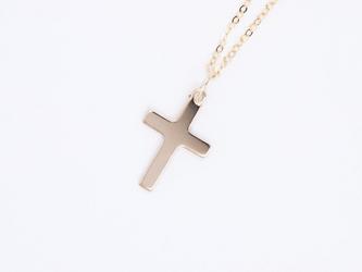 送料無料【14kgf】十字架 クロス ネックレス / マリア カトリック コイン 小さめ お守り シンプル 幸運の画像