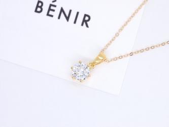 送料無料【14kgf/CZダイヤモンド】シリウス 一粒ネックレス(40cm)CZダイヤモンドの画像