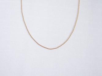 送料無料【14kgf】シンプルボールチェーンネックレス(40cm)シンプル 華奢 ゴールド レディース メンズの画像