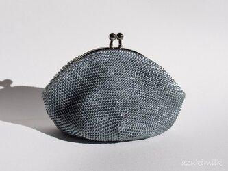 ビーズ編みがま口【スモーキーグレー】の画像