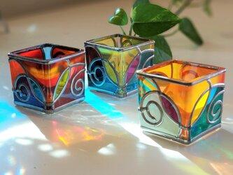LED付キャンドル3個セット 『琉陽2』の画像