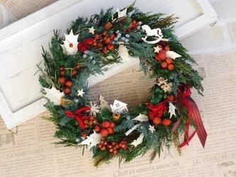 クリスマスリース  スイートホームの画像