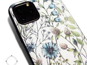 【iPhone13/13pro/12/12pro/12mini/11~】レザーケースカバー(花柄)ワイルドフラワー ボタニカルの画像