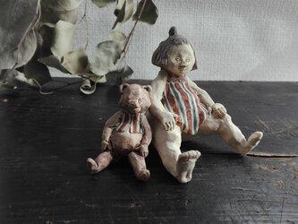 熊と金太郎 おすわりの画像