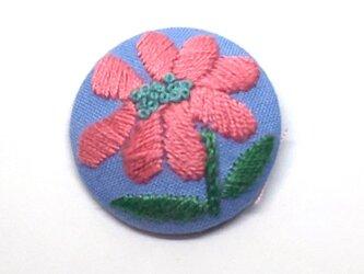 刺繍ブローチ・小さいお花の画像
