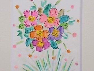 絵画 インテリア 額絵 水彩画 花束Bの画像