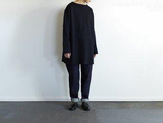 big basque long shirt/blackの画像