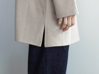 big basque long shirt/ash grayの画像