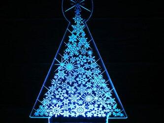 クリスマスツリー 雪結晶 ルームライトセット LED フロアライトセットの画像