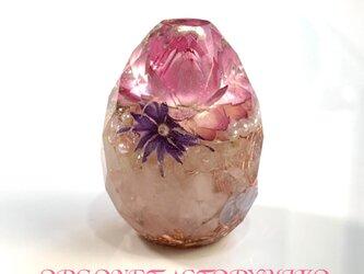 カット卵型  ケオン 幸運メモリーオイル入 オルゴナイトの画像