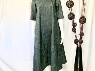 大島紬ワンピースドレス   晩秋の画像